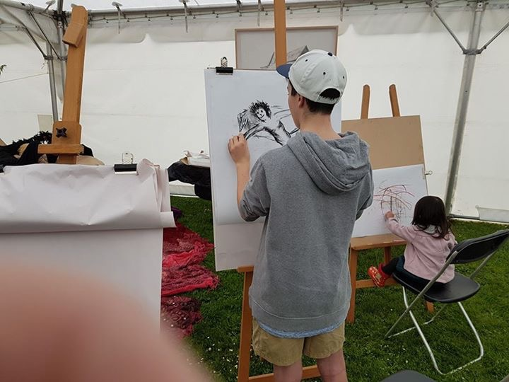 ACAC drawing stand at French Fest 2017